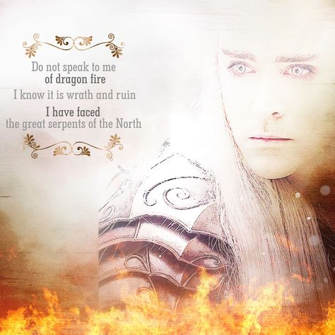 Do not speak to me of dragon fire! I know its wrath and ruin! I have faced the great serpents of the north!.~Thranduil. Art by Queen of Mirkwood.