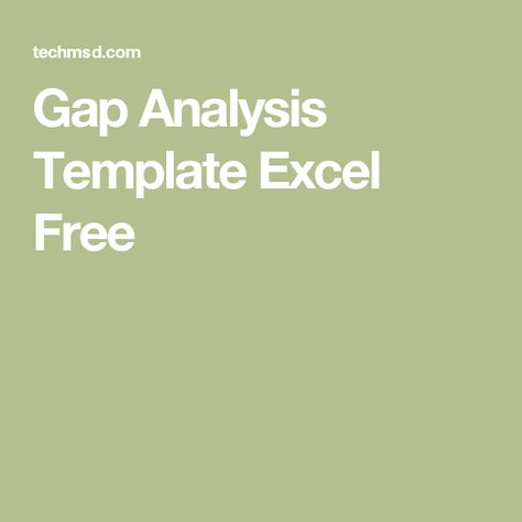 Gap Analysis Template Excel Free others Pinterest - gap analysis template