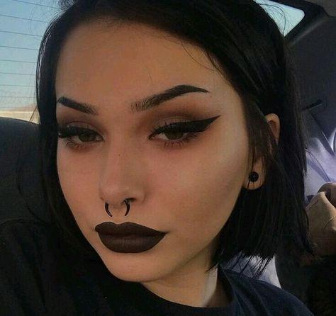 Piercing septum girl eyebrows 26 Ideas for 2019 Makeup Goals, Makeup Inspo, Makeup Art, Makeup Inspiration, Makeup Tips, Beauty Makeup, Makeup Ideas, Dark Makeup, Skin Makeup