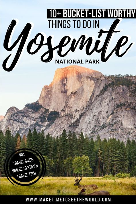 Perfect for first-time visitors, our guide to 10 Amazing Things to do in Yosemite National Park also includes a Handy Yosemite Travel Guide covering where to stay, they best time to visit and more! Sequoia National Park, Us National Parks, Grand Teton National, West Coast Road Trip, On The Road Again, Mammoth Lakes, Travel Usa, Travel Tips, Travel Guides