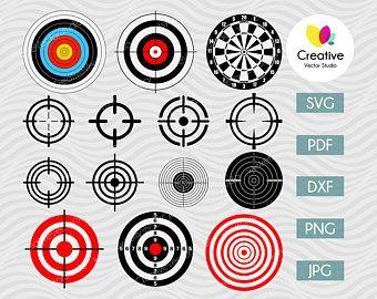Bulls Eye Shooting Target Eps Svg Png Jpg Vector Graphic Etsy Svg Shooting Targets Wallpaper Website