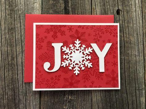 Cricut Christmas Cards, Stamped Christmas Cards, Simple Christmas Cards, Christmas Card Crafts, Homemade Christmas Cards, Cricut Cards, Homemade Cards, Handmade Christmas, Holiday Cards