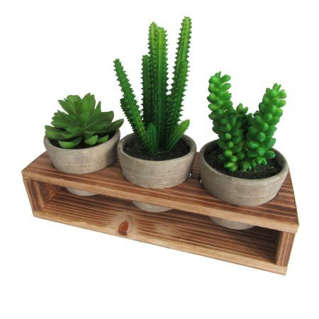 Assorted Decorative Artificial Succulents Fake Plants Potted In Gray Cement Pots Small Green Artificial Plants Decor Artificial Plants Small Artificial Plants