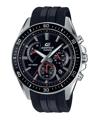 Sponsored Casio Edifice Efr 552p 1a Men S Chronograph Rubber Band Analog Watch In 2020 Casio Casio Edifice Watches For Men