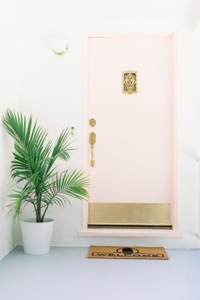 Best Friends For Frosting Blog Airbnb Home Tour Pink Front Door Pink Houses Pink Door
