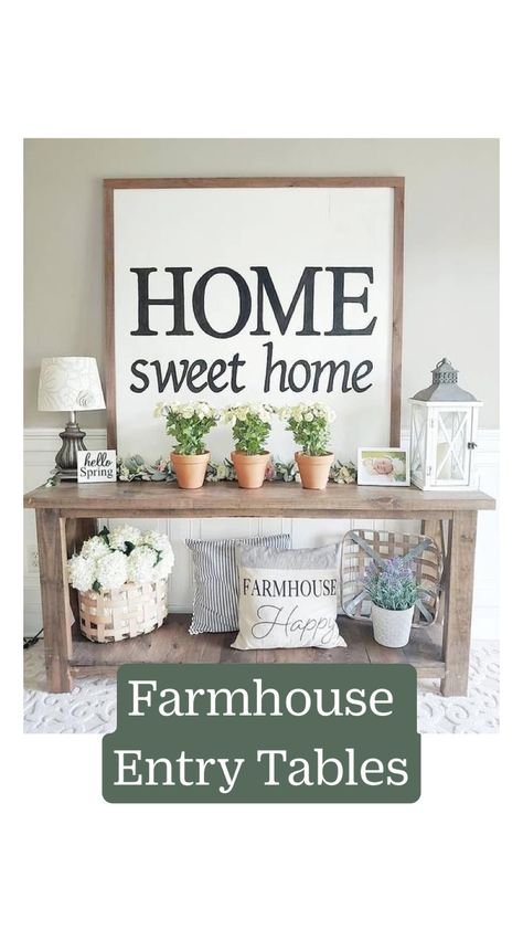 Farmhouse  Entry Tables