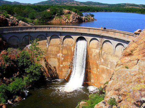 Quanah Parker Dam, Wichita Mountains, Lawton, Oklahoma
