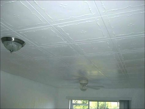 Ceiling Tile Covers Stick On Glue Tiles Covering Ing Self Adhesive Acoustic Hole