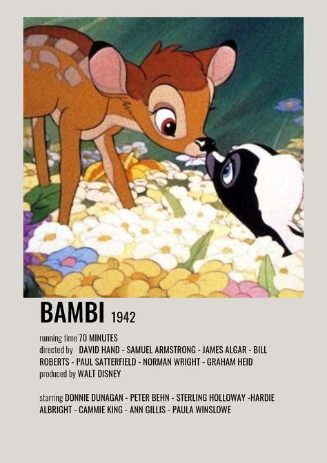 bambi minimalist polaroid poster
