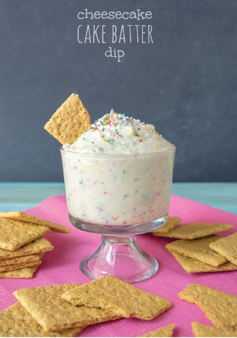 Cheesecake Cake Batter Dip Made in less than 10 minutes! Keep this easy recipe in mind when youre in need of a quick dessert fix.
