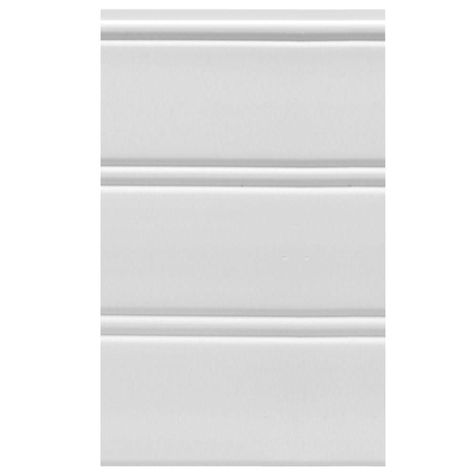 House Of Fara W96wp 12 Sq Ft White Vinyl Reversible Interior X2f Exterior Paneling 3 Piece Per P Wainscoting Panels Beadboard Wainscoting Exterior Paneling