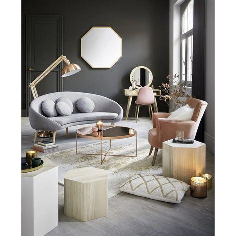 Beistelltischchen Set Aus Paulownienholz In 2020 Couchtisch Skandinavisch Couchtisch Und Couch
