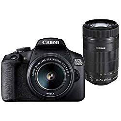 Canon Eos 1500d 24 1mp Digital Slr Camera Black With 18 55 And 55 250mm Is Ii Lens 16gb Card And Carry C Digital Slr Digital Slr Camera Nikon Digital Camera