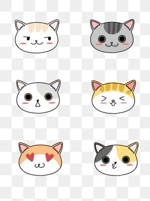 Cartoon Cute Stick Figure Cat Head Animal Expression Element Cat Cartoon Lovely Png Transparent Image And Clipart For Free Download Cat Face Drawing Cute Stick Figures Cartoon Cat
