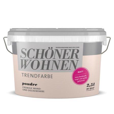 Poudre Schoner Wohnen Farbe Schoner Wohnen Wandfarbe Schoner Wohnen Trendfarbe