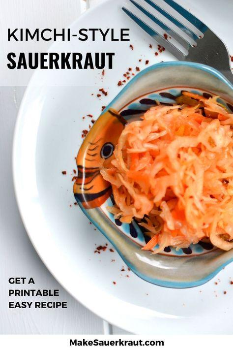 Kimchi Style Sauerkraut Recipe A Spicy Depth Of Flavor In 2020 Recipes Sauerkraut Recipes Sauerkraut