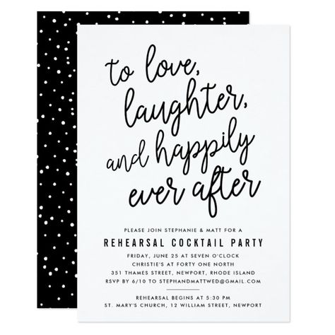 Happily Ever After Rehearsal Dinner Invitation Dinner
