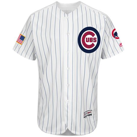 01fbc7b40 Chicago Cubs Majestic Fashion Stars   Stripes Flex Base Jersey - White
