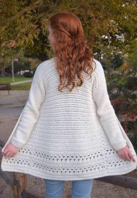 Angelica Cardigan crochet cardigan pattern long crochet | Etsy