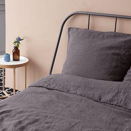 200x200 Deckenbezug Grau Linenme Fur Das Englische Label