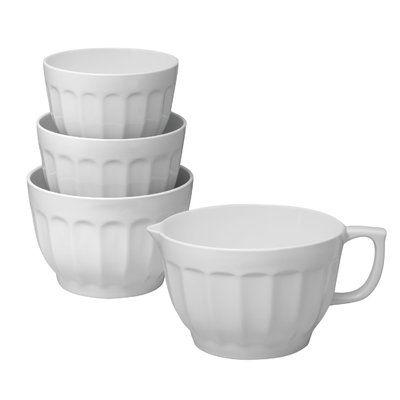 Supreme Housewares Supreme Housewares Latte 4 Piece Melamine Mixing Bowl Set Wayfair Melamine Mixing Bowls Mixing Bowls Set Ceramic Mixing Bowls