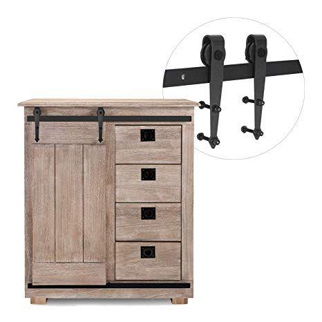 3 1 4ft Cabinet Barn Door Hardware Kit Mini Sliding Door Hardware For Cabinet Tv Stand Wardrobe Simple Sliding Door Hardware Barn Door Hardware Barn Door