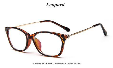 6433dae0df Vintage Fashion Female Grade Glasses Frame Diamond Cat Eye Retro Eyeglasses  Prescription Eyewear Transparent Glasses for Women Like if you remember Get  it ...