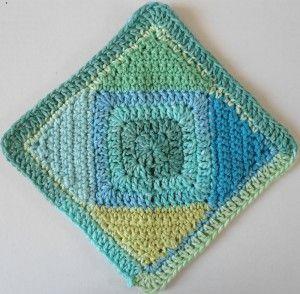 #220 Square On Point Crochet Dishcloth – Maggie Weldon Maggies Crochet