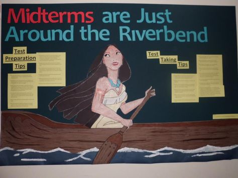 midterms are just around the riverbend bulletin board
