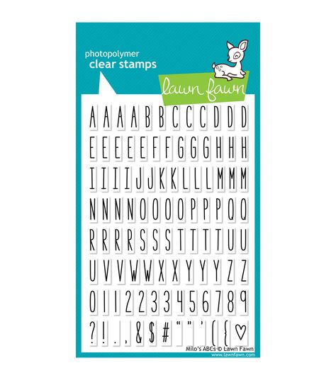 Lawn Fawn Clear Stamps 4x6-milos Abcs