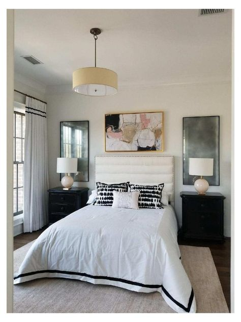 Mirrors Behind Bedside Tables, Modern Bedside Table, Mirrored Nightstand, Bedroom Wall Decor Above Bed, Bedroom Mirrors, Bedroom Decor, Bedroom Ideas, Framed Mirrors, Celebrity Bedrooms