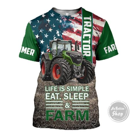 This is How I Roll Funny Farmer Or Farming Tractor Girls Short Sleeve Ruffles Shirt T-Shirt
