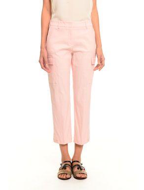 #Pantaloni cropped in cotone Rosa chiaro  ad Euro 0.00 in #Ottelia #Abbigliamento pantaloni