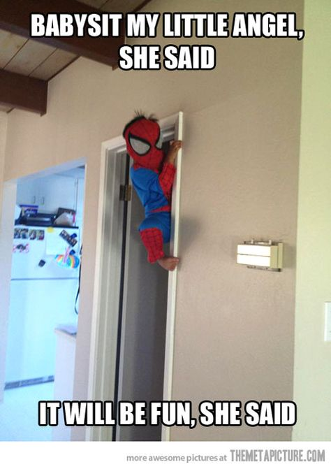 How I broke my nose the first time...minus the costume but I totally thought I was spider man.