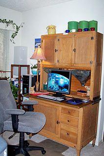 Hoosier cabinet office space