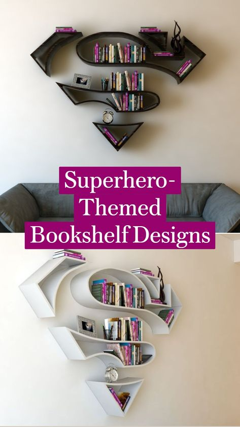 Superhero-Themed Bookshelf Designs