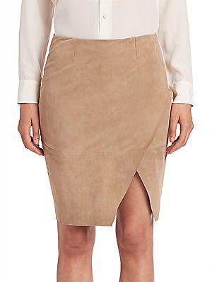 Polo Ralph Lauren Asymmetrical Leather Pencil Skirt - Saddlery Tan | Ralph  lauren, Leather pencil skirts and Polos