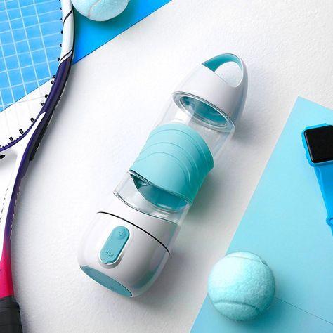 Smart Water Bottle Drinking Reminder Spray Humidifier Emergency Lig Trend Inventors Bottle Water Bottle Smart Water Bottle