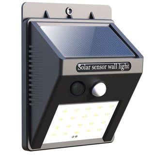 20 LED Solar Powered PIR Motion Sensor Light Outdoor Garden Security Wall Lamps