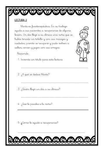 Mini lecturas comprensivas infantil y primaria temática