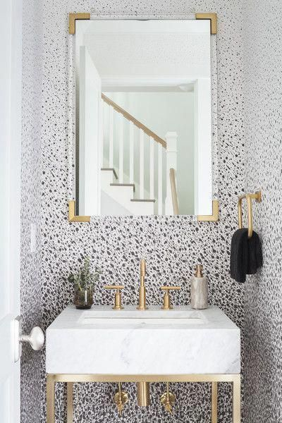Bathroom Photos Bathroom Wallpaper Trends Black And Gold Bathroom Bathroom Style