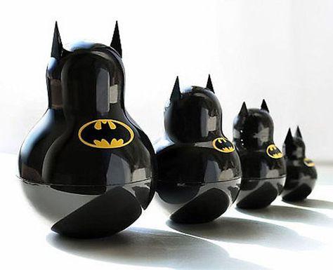 batman Russian stacking dolls... WANT www.junkfoodclothing.com