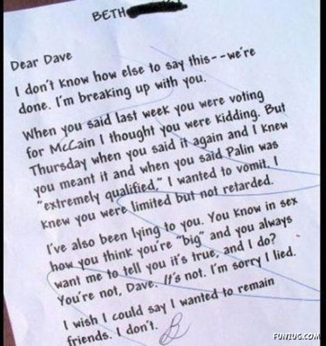 Break Up Letters You Didnt Have To Receive Giggles Break up