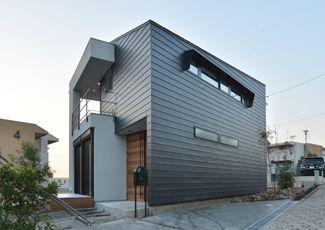 白黒グレーの家イメージ 家 住宅 店舗設計