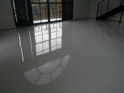 Bright White Epoxy And Urethane Floors Are Being Installed In Lofts And Condos What Do You Think Best Flooring Unique Flooring House