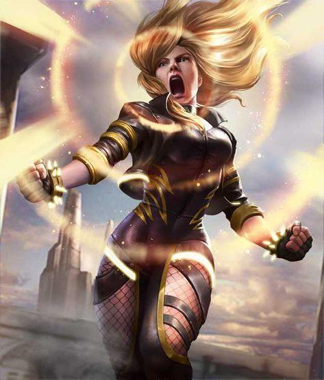 Blondes Kostüm Superhelden