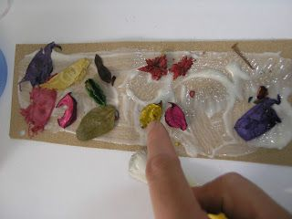 Textured and scented bookmark. A simple, quick and easy Mothers Day gift.