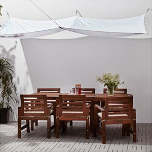 Ikea Dyning Canopy In White As Seen In A Modern Tropical Outdoor Space Patio Canopy Canopy Canopy Outdoor