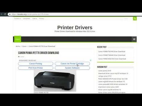 Canon Pixma Ip2770 Driver How To Install Youtube