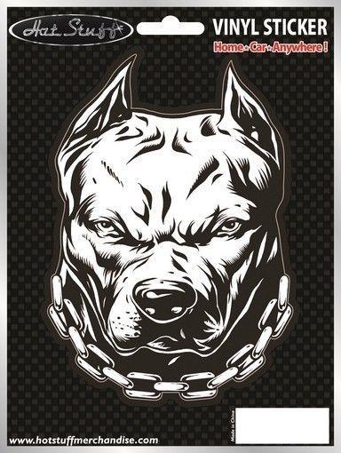 3 99 Pitbull Car Sticker Dog Angry Chains Window Auto